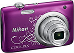 Фотоаппарат Nikon COOLPIX A 100 Purple Lineart