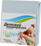 Наматрасник QuAqua Caress 65х125 голубой (690924)