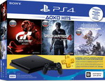 Игровая приставка Sony PlayStation 4 500Гб Black +HZD/GTS/UC/PS+3M (CUH-2208 A)